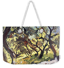Popping Sunlight Through The Olive Grove Weekender Tote Bag