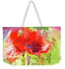 Weekender Tote Bag featuring the photograph Poppy Abstract Photo Art by Sharon Talson