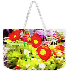 Poppy Abstract Thoughts Weekender Tote Bag
