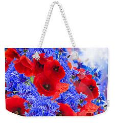 Poppy And Cornflower Flowers Weekender Tote Bag