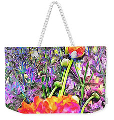 Poppy And Lavender Fusion Weekender Tote Bag