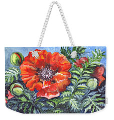 Poppy Brilliance Weekender Tote Bag by Carol Wisniewski