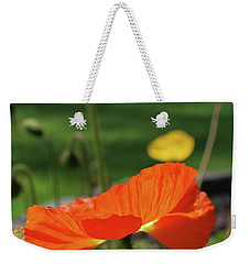 Weekender Tote Bag featuring the photograph Poppy Cup by Evelyn Tambour