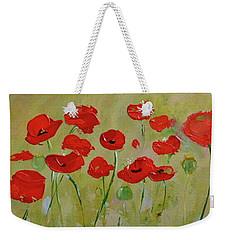Poppy Fever Weekender Tote Bag