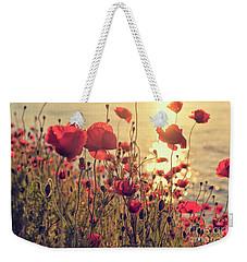 Poppy Flowers At Sunset Weekender Tote Bag
