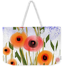 Poppy Garden Weekender Tote Bag