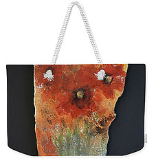 Weekender Tote Bag featuring the ceramic art Poppy Impressions by Kathleen Pio
