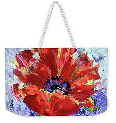 Poppy In Fields Of Lavender Weekender Tote Bag