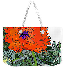 Poppy Weekender Tote Bag by Jamie Downs