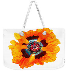 Weekender Tote Bag featuring the photograph Poppy Pleasing by Roger Bester
