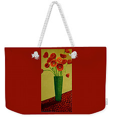 Poppy Power Weekender Tote Bag by Nancy Jolley