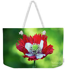 Weekender Tote Bag featuring the photograph Poppy Victoria Cross by Tim Gainey