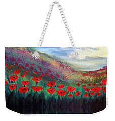 Poppy Wonderland Weekender Tote Bag by Holly Martinson