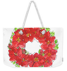 Poppy Wreath Weekender Tote Bag by Kathleen McElwaine