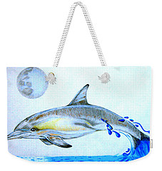 Weekender Tote Bag featuring the drawing Porpoise by Mayhem Mediums