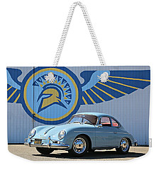 Porsche 356a True Blue Weekender Tote Bag