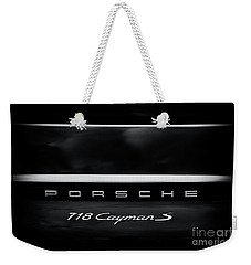 Porsche 718 Cayman S Weekender Tote Bag by Tim Gainey