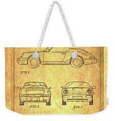Porsche Blueprint Weekender Tote Bag