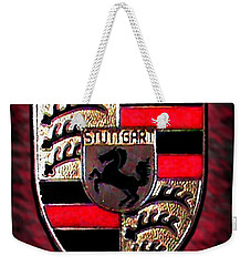 Porsche Emblem Weekender Tote Bag by George Pedro