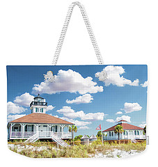 Weekender Tote Bag featuring the painting Port Boca Grande Lighthouse by Christopher Arndt