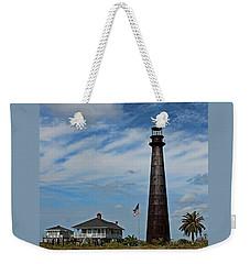 Port Bolivar Lighthouse Weekender Tote Bag