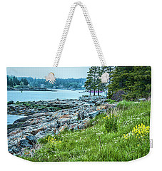Weekender Tote Bag featuring the photograph Port Clyde From Marshall Point by Daniel Hebard