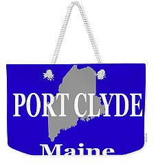 Weekender Tote Bag featuring the photograph Port Clyde Maine State City And Town Pride  by Keith Webber Jr