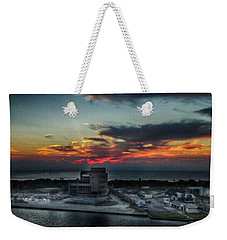 Weekender Tote Bag featuring the photograph Port Everglades Sunrise by Judy Hall-Folde