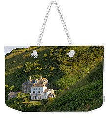 Weekender Tote Bag featuring the photograph Port Isaac Homes by Brian Jannsen