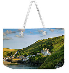 Weekender Tote Bag featuring the photograph Port Issac Hills by Brian Jannsen