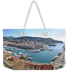 Weekender Tote Bag featuring the photograph Port Nice Panorama by Yhun Suarez