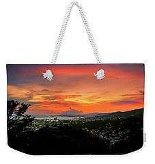 Port Of Spain Sunset Weekender Tote Bag