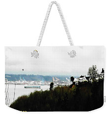 Weekender Tote Bag featuring the photograph Port Of Tacoma At Ruston Wa by Sadie Reneau
