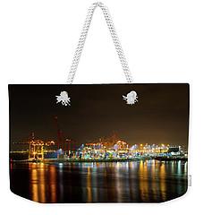 Port Of Vancouver Bc At Night Weekender Tote Bag