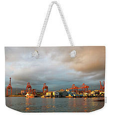 Port Of Vancouver Bc At Sunset Weekender Tote Bag