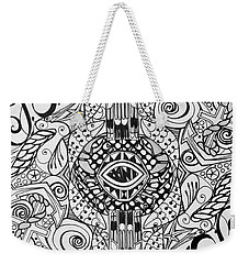 Port Orchard Washington Zentangle Collage Weekender Tote Bag