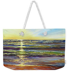Weekender Tote Bag featuring the painting Port Sheldon by Sandra Strohschein
