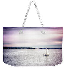 Weekender Tote Bag featuring the photograph Port Townsend Sailboat by Spencer McDonald