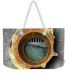 Weekender Tote Bag featuring the mixed media Portal by Tony Rubino