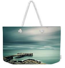 Portencross Pier Weekender Tote Bag by Ian Good