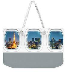 Porthole Frame On Tokyo Tower Weekender Tote Bag