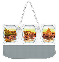 Porthole Windows On Rome Weekender Tote Bag