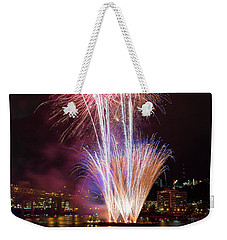 Portland 4th Of July Fireworks Weekender Tote Bag