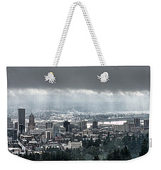 Portland After A Morning Rain Weekender Tote Bag by Don Schwartz