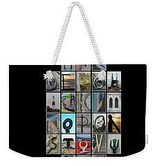 Portland Alphabet Weekender Tote Bag