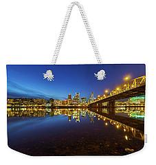 Portland Downtown Blue Hour Weekender Tote Bag