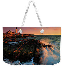 Weekender Tote Bag featuring the photograph Portland Head First Light  by Emmanuel Panagiotakis