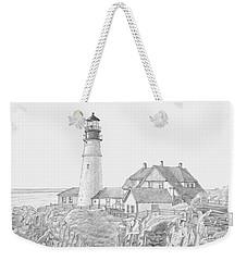 Portland Head Light Drawing Weekender Tote Bag