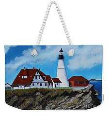 Portland Head Light In Maine Viewed From The South Weekender Tote Bag