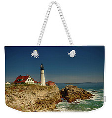 Portland Head Lighthouse 2 Weekender Tote Bag by Sherman Perry